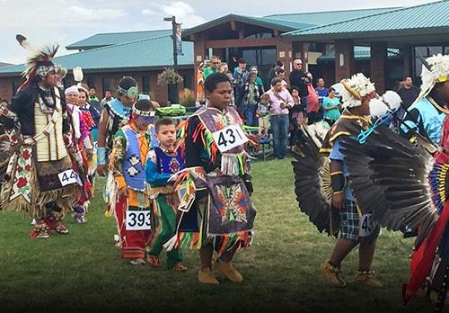 Kids dressed to celebrate native american culture