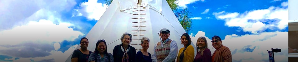American Indian Studies teachers and student