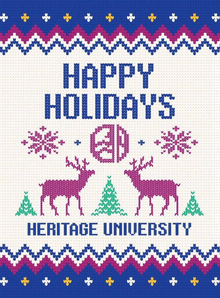 Heritage University Holiday Card Front